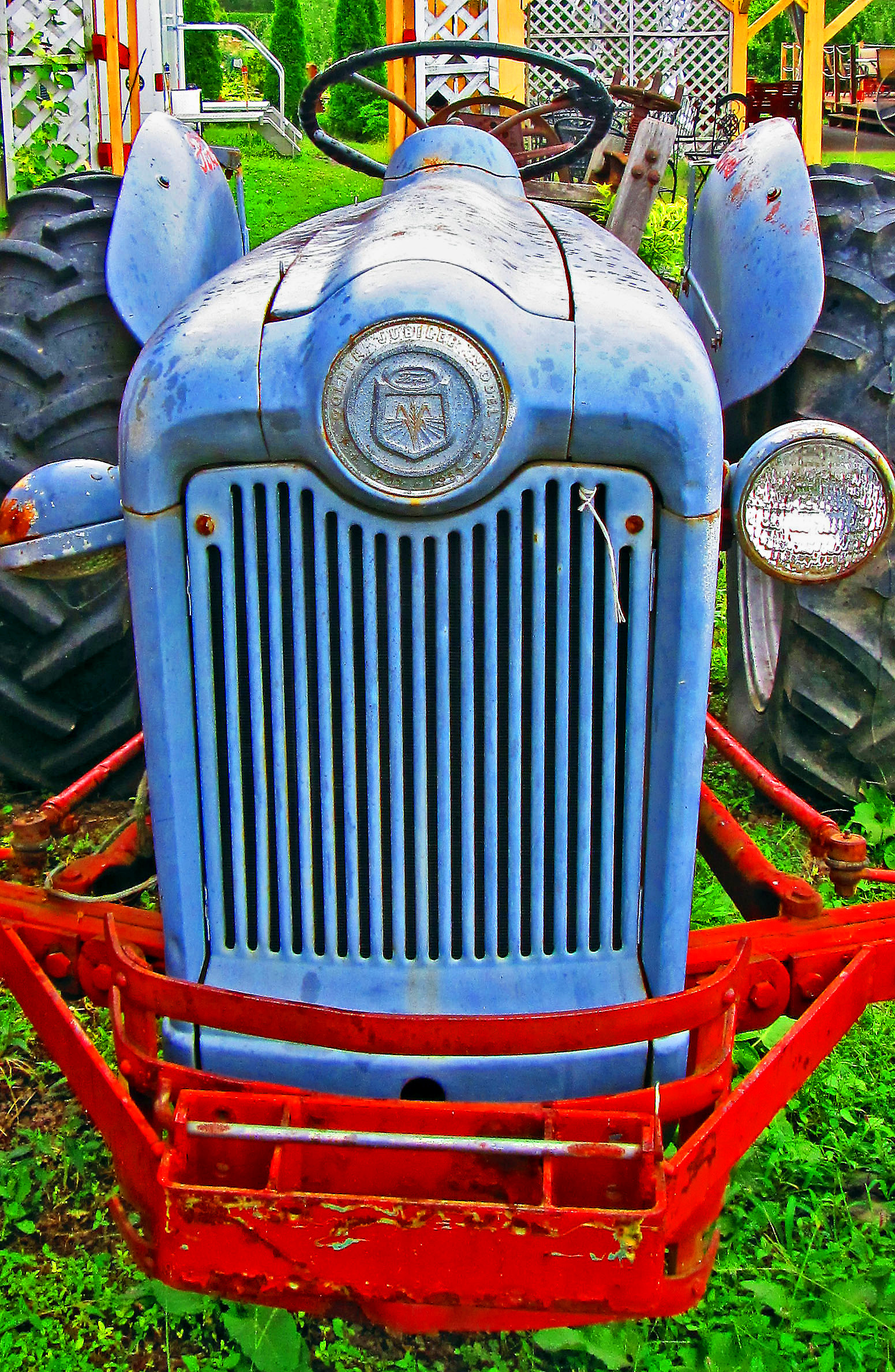 Streamline Hood & Front Grill Of 1953 Ford Tractor