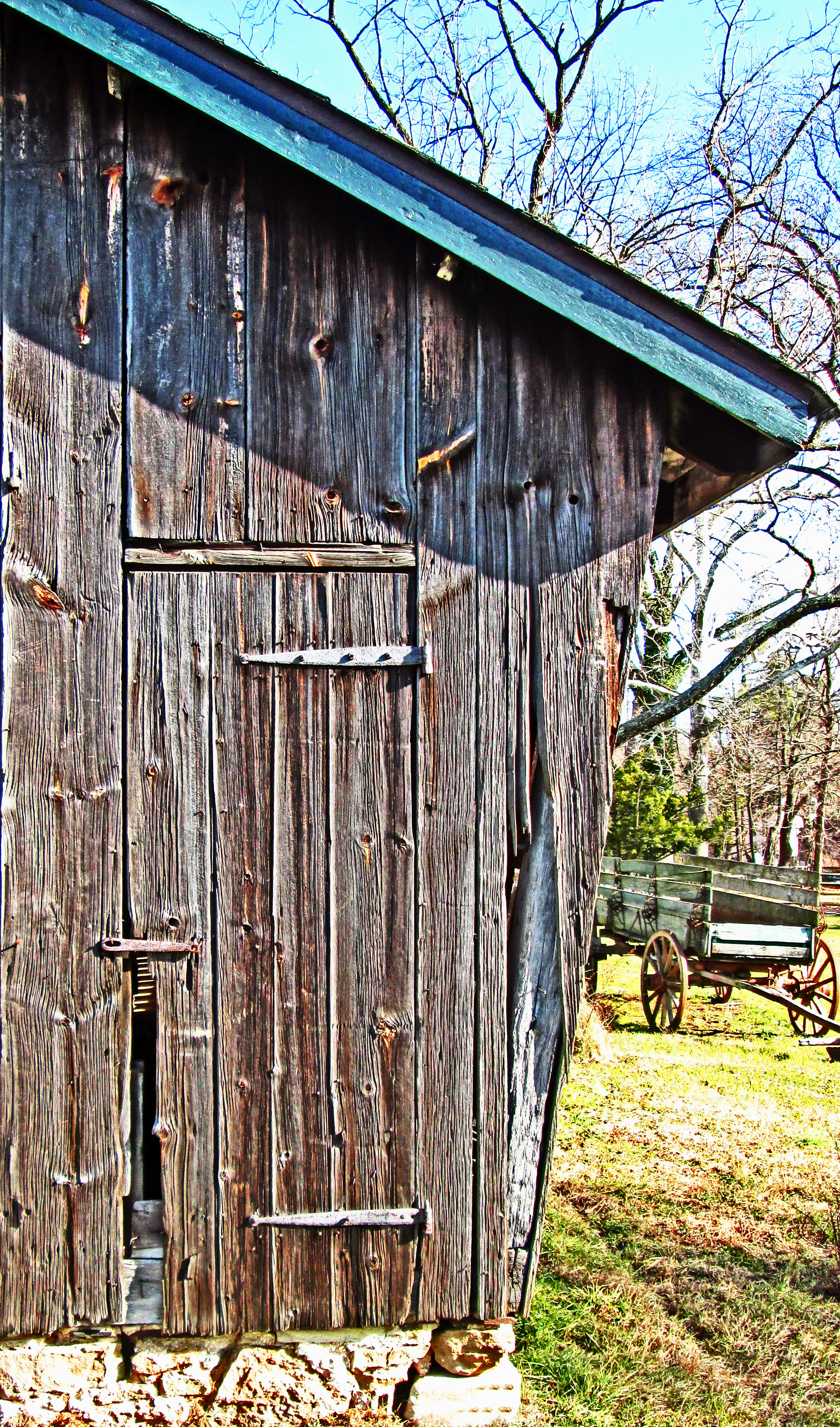 Old Weathered Barn Door