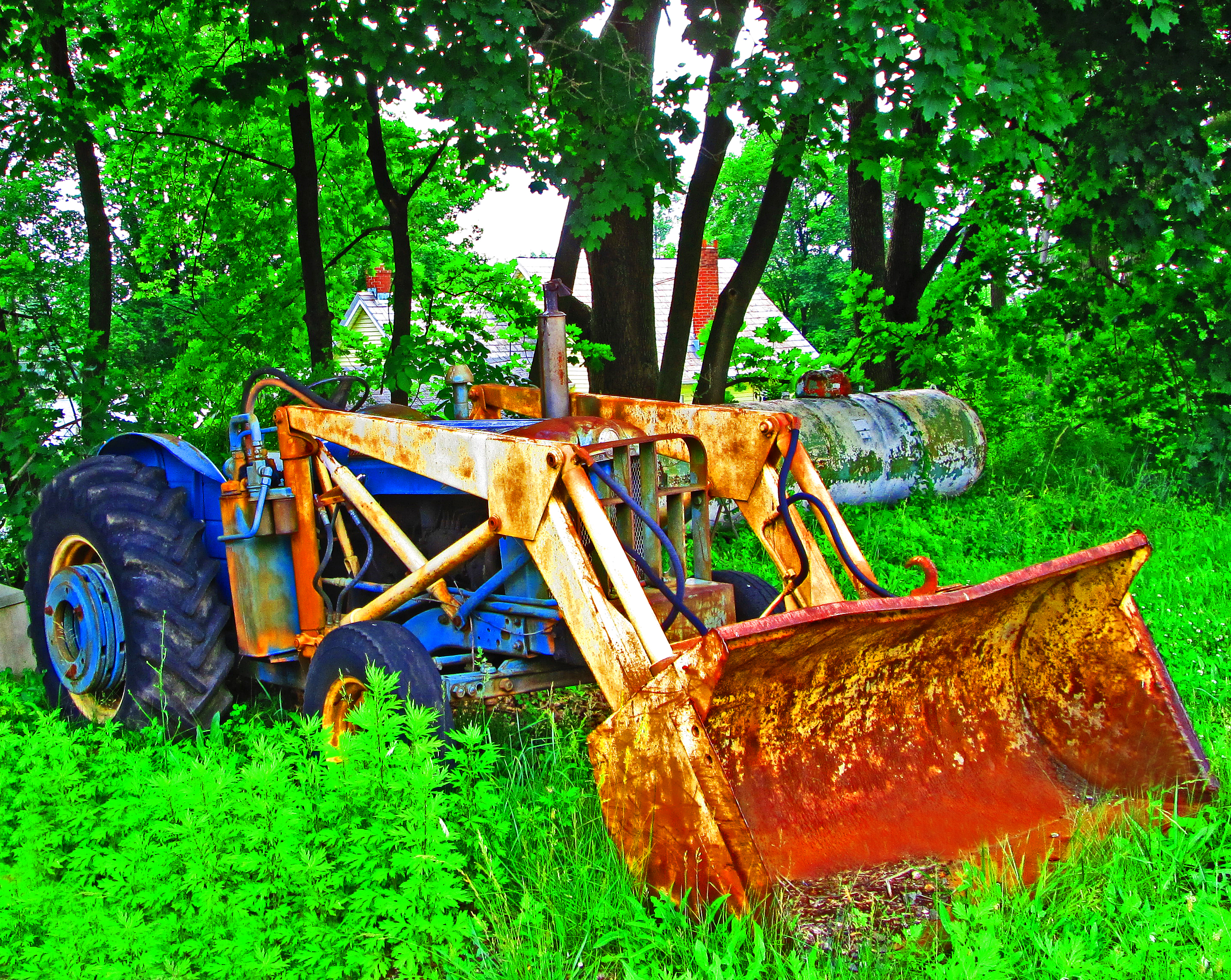 Older Tractor With Front Loader