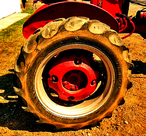 Farmall Cub Tractor Rear Wheel