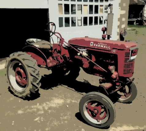 Vintage International Harvester Tractor