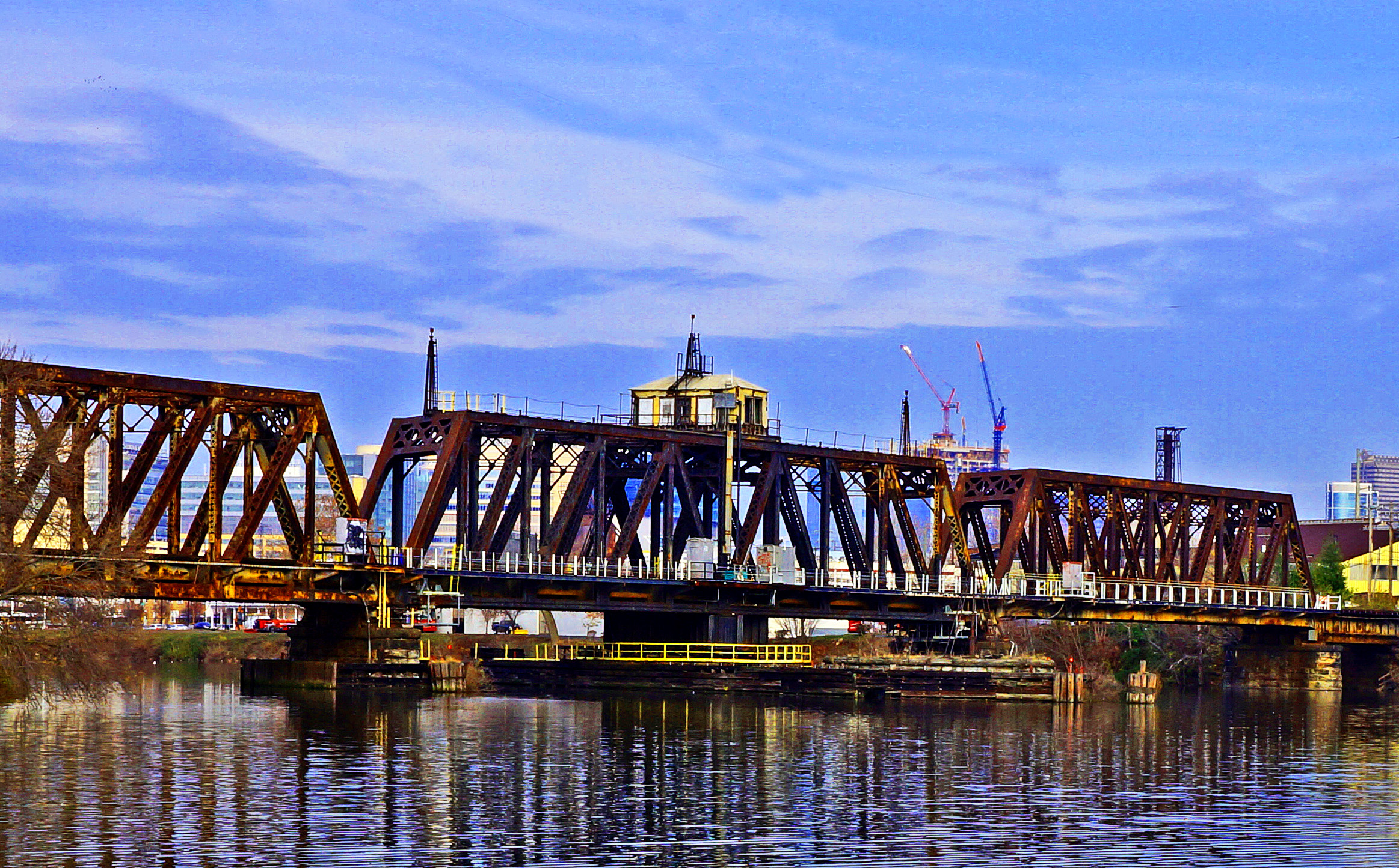 Railway Swing Bridge Over Schuylkill River