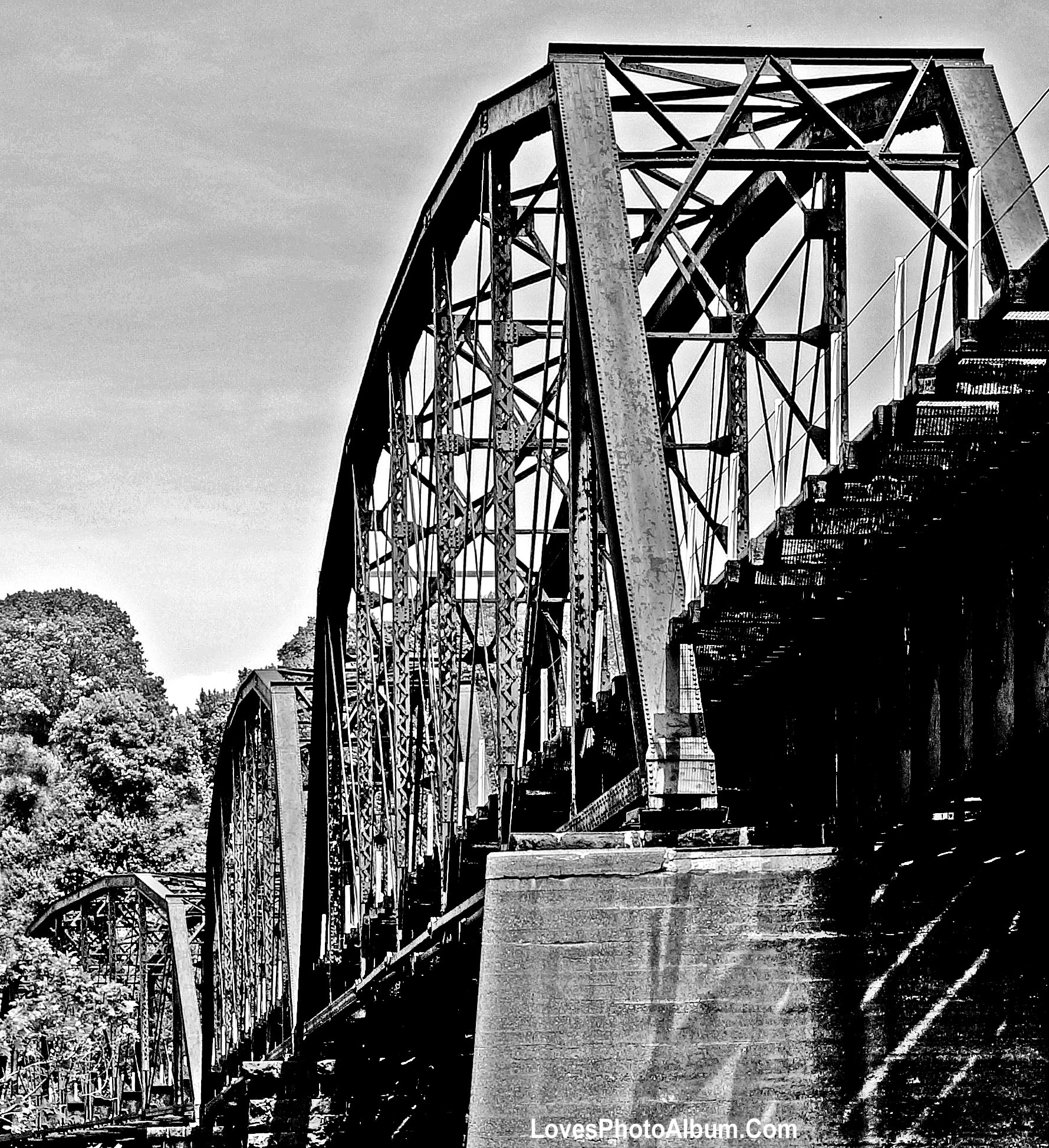 Iron Truss Railroad Bridge