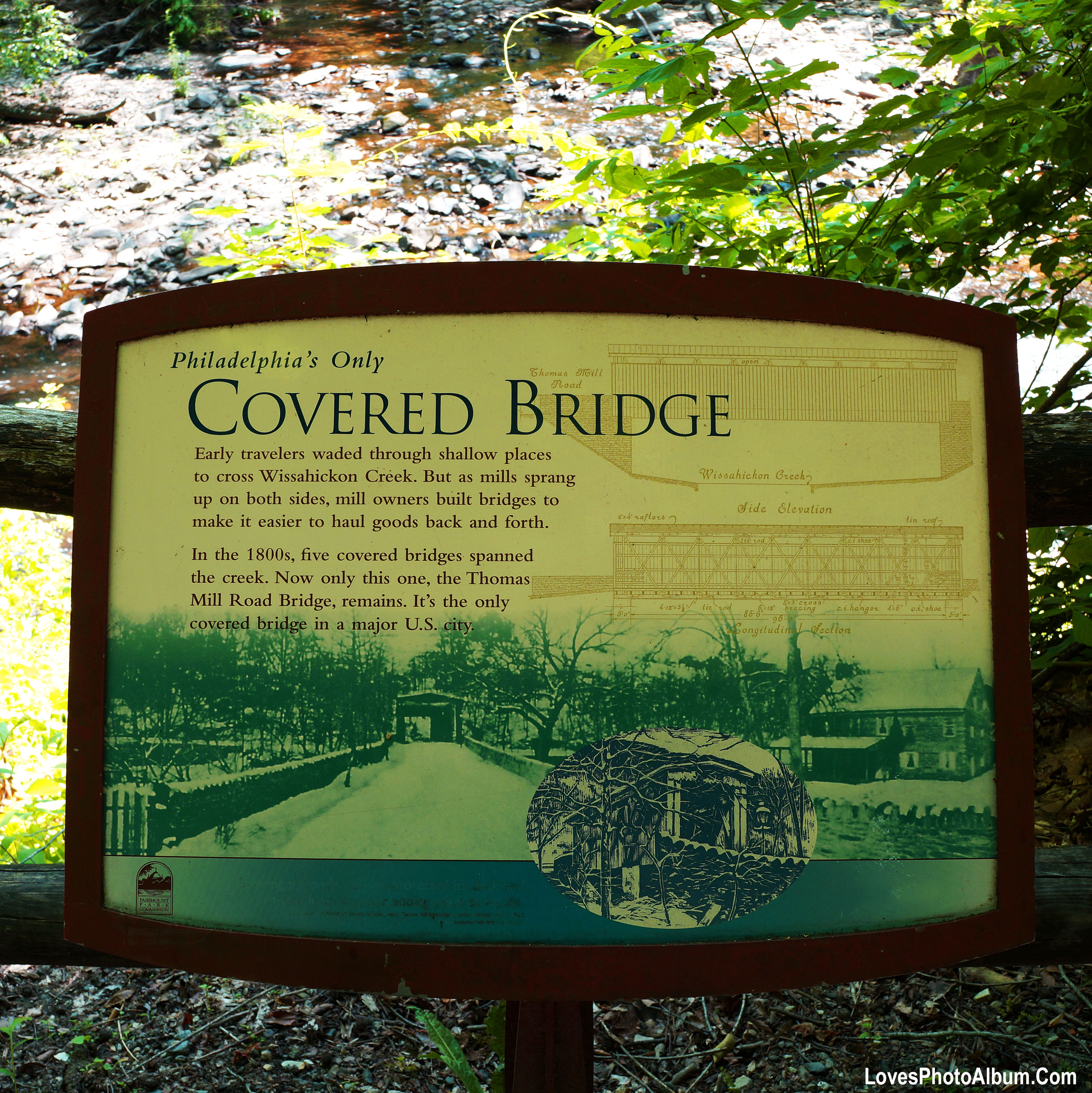 Philly's Covered Bridge Sign