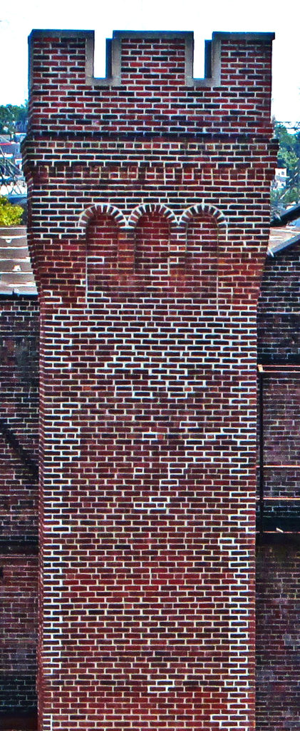 Rebuilt Historic 3 Stack Brick Chimney