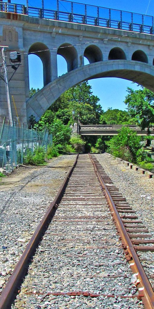 Rusty Towpath Freight Rails