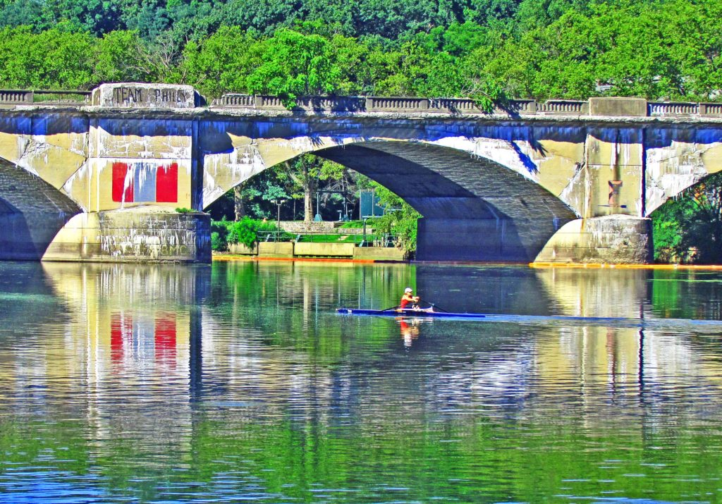 Sculler Reflecting On The Schuylkill