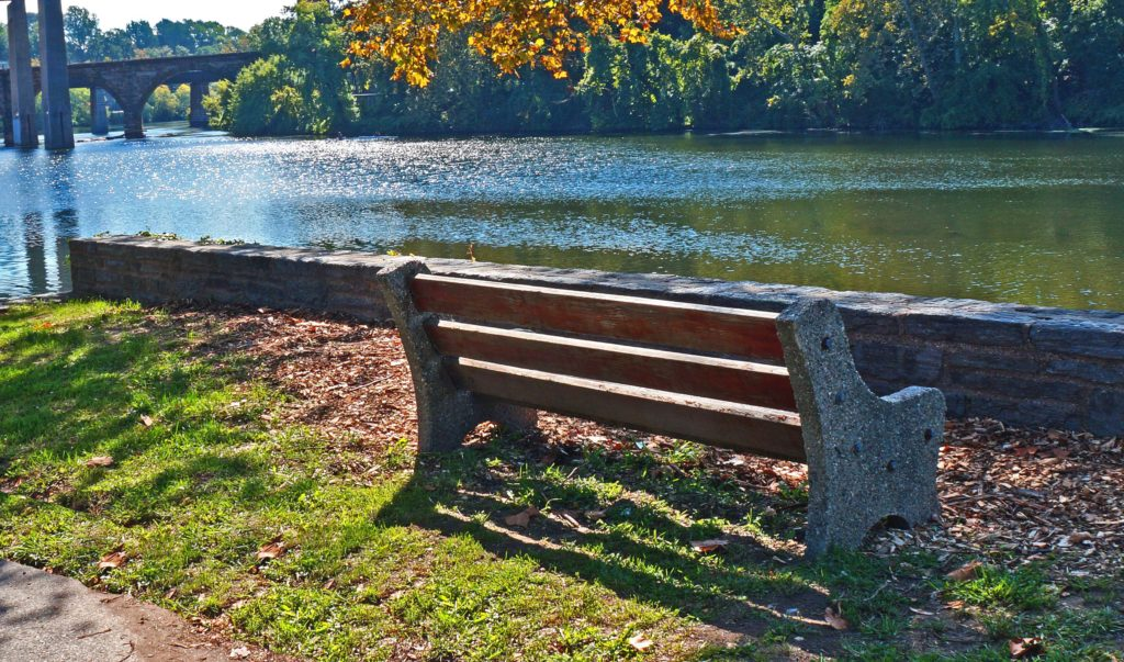 East Falls Park Bench