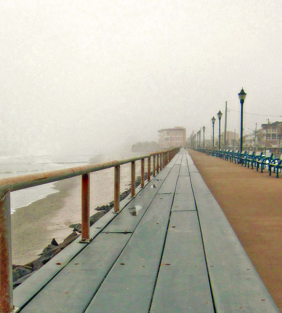 Foggy Day On The Seawall Walkway