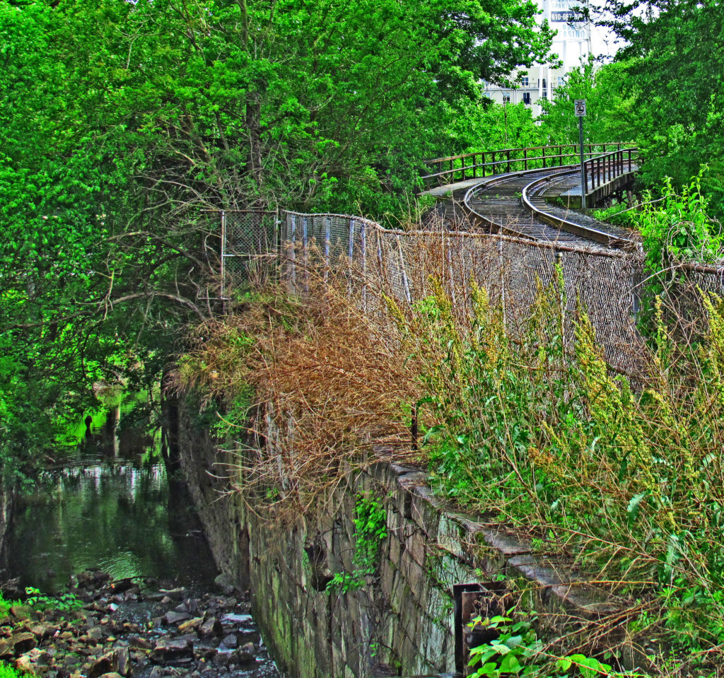 Canal Wall & Freight Rail Bend