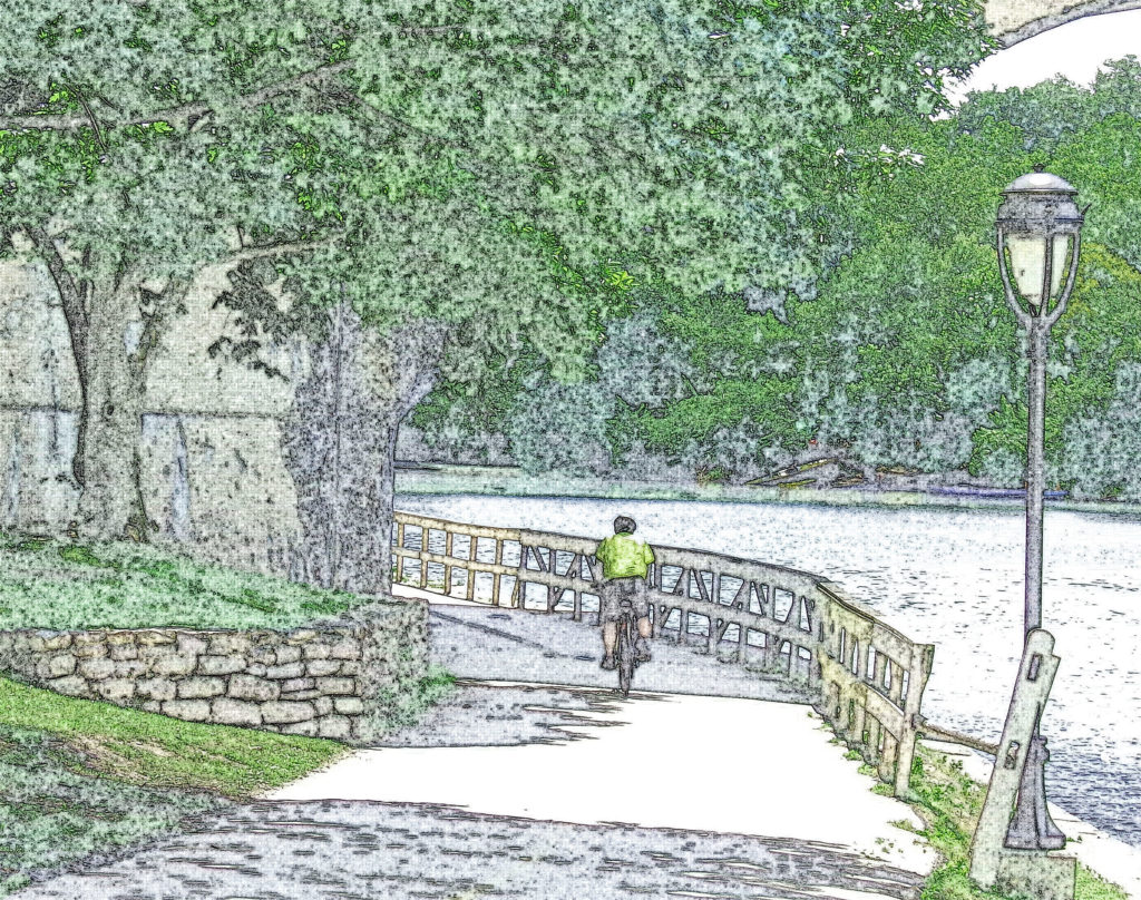 Biking A Bend On The Schuylkill Trail