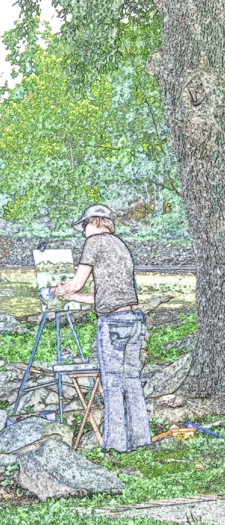 Bucks County Artist In Basin Park