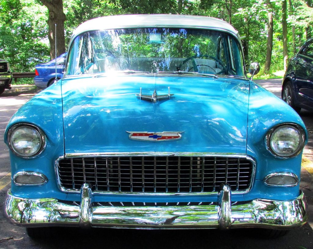 Front End Of 55 Chevrolet